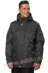 Куртка демисезонная мужская утепленная флисовым мехом (66M-4K-462)