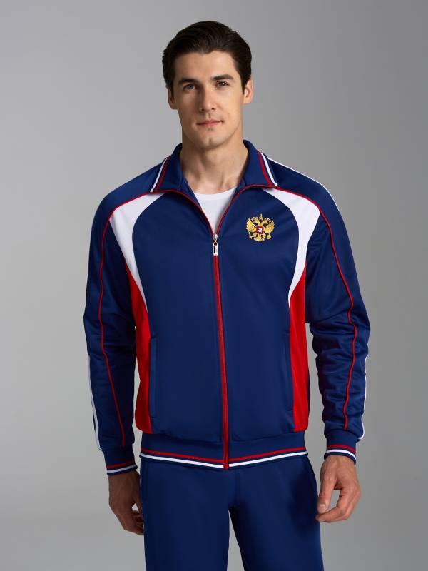 9dbb2aea Купить Синий мужской спортивный костюм 10M-00-425 Addic Sport ...
